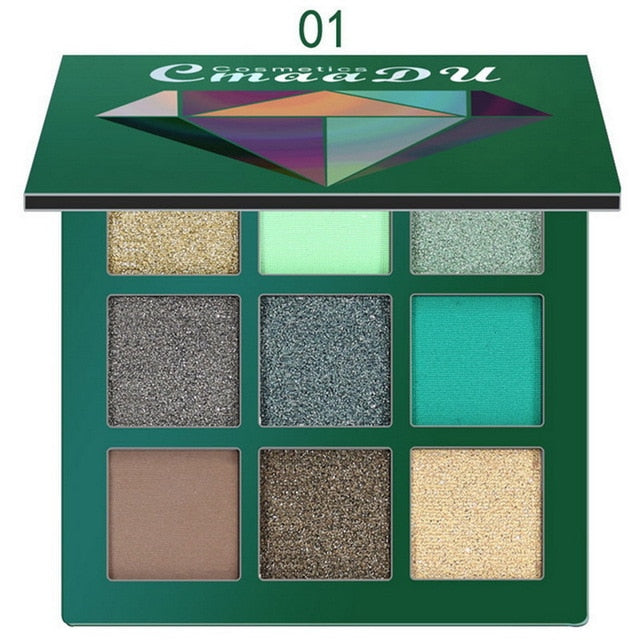 9 Colors New Matte Eyeshadow Cream Makeup Fashion Smokey Shimmer Matte Eyeshadow Palette Party Cosmetics Festival Eye Shadow Set