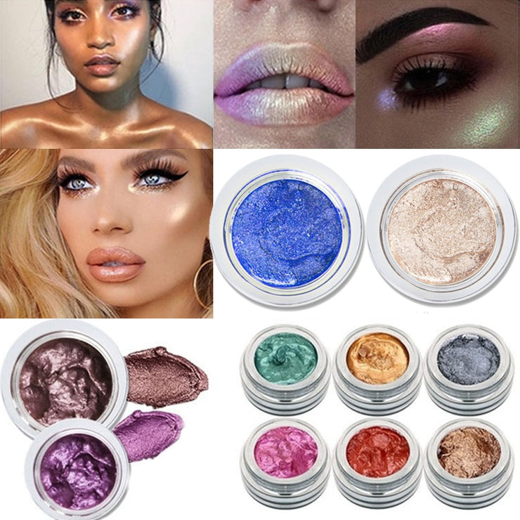 Highlighter Cream Brighten Face High Lighter Body Shimmer Glow Kit Bronzer Contouring Iluminator Hilighter maquillage