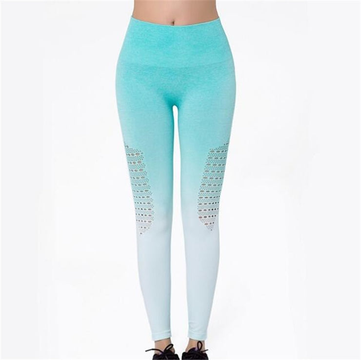 Women Energy Seamless Tummy Control Yoga Pants Super Stretchy Gym Tights High Waist Sport Leggings Running Pants