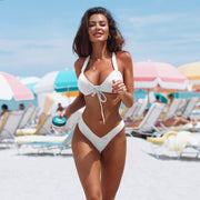 Sexy Bandage Bikini Set  New Swimwear Women Push Up Padded Bathing Suit Women Bathing Suit Summer Brazilian Thong Bikini Hot
