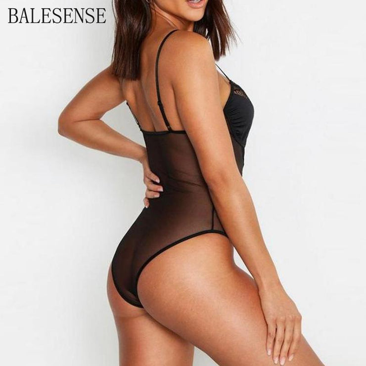 Sexy Lace Bodysuit Women Bodycon Jumpsuit Short Summer Hollow Out Rompers Womens Jumpsuit Body Overall Black Mesh Bodysuit