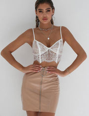 Womens lace crop top