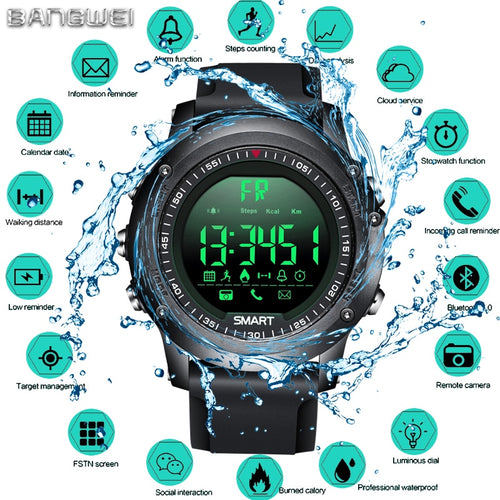 Smartwatch Militar BANG WEI Bluetooth IPHONE E ANDROID
