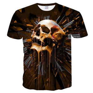 Skull&Flower 3D Printed t shirt