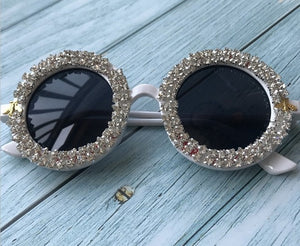 Round Eyewear Mirror Lens Flower Design sunglasses - Rave Alien
