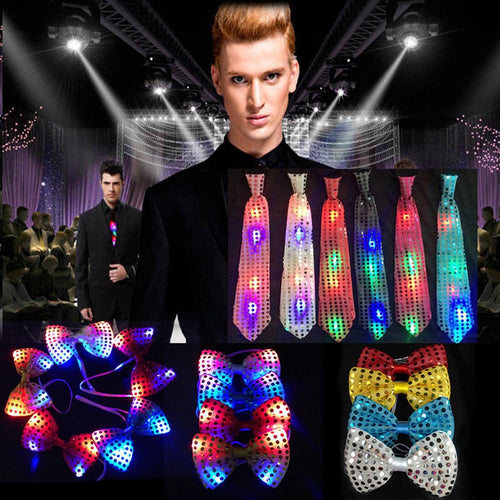 LED Bow Tie Necktie Lights Shirt