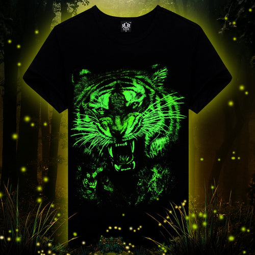 Animal printed creative 3d LED t shirt