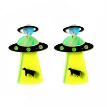 Load image into Gallery viewer, Alien Drop Earrings Neon three colors