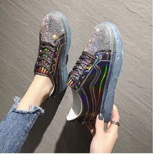 Load image into Gallery viewer, Sparkly Low-Platform Sneakers