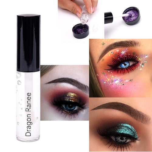 3pcs Sexy Glitter Eyes Lips Eyes Makeup Holographic Silver gel - Rave Alien