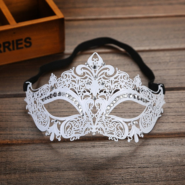 Metal Filigree Couple Costume Masquerade Mask