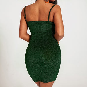 Slim Mini Tight Dress With Thin Shoulder Strap