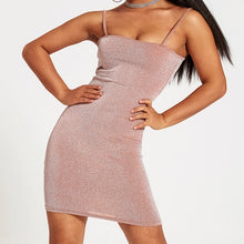 Load image into Gallery viewer, Slim Mini Tight Dress With Thin Shoulder Strap
