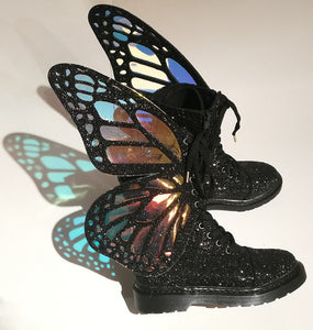 Colorful Ankle Boots with Butterfly-wing - Rave Alien