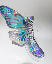 Load image into Gallery viewer, Colorful Ankle Boots with Butterfly-wing - Rave Alien