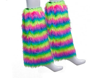 Rainbow High Socks Faux Fur Boot Cover