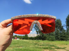 Load image into Gallery viewer, Crystal Luxury Oversized sunglasses
