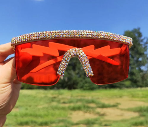 Crystal Luxury Oversized sunglasses