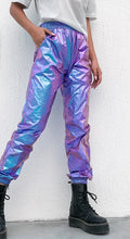 Load image into Gallery viewer, holographic high waist pants - Rave Alien