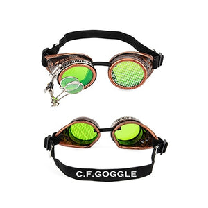 Punk Gothic Goggles Different Lens Rainbow