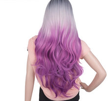 Load image into Gallery viewer, Wig Full Star Blue Ombre Purple Wigs 20 Inch 280g - Rave Alien