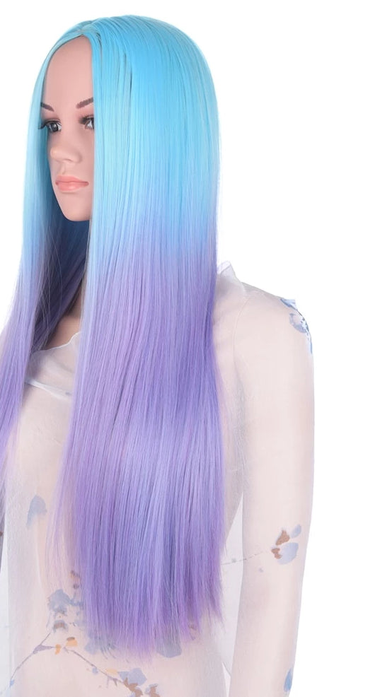 Wig Full Star Blue Ombre Purple Wigs 20 Inch 280g - Rave Alien