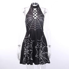 Load image into Gallery viewer, Hollow Out Sexy Fashion Crisscross Bandage Halter Dresses Backless - Rave Alien