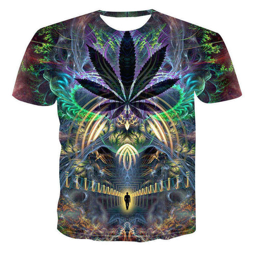 Trippy Outer state 3D T-Shirt