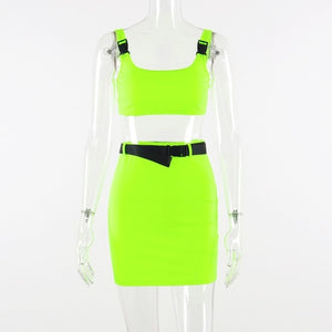 Two-Piece buckle Neon Set