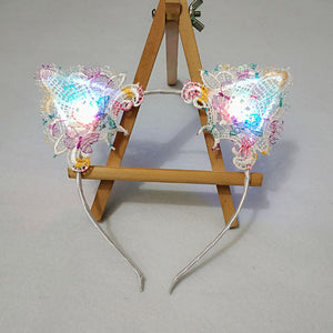 Lace Cat Animal Ears - Rave Alien