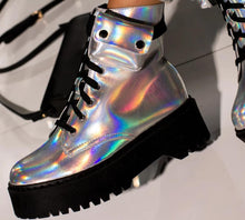 Load image into Gallery viewer, Cosmic World Holographic  Ankle Boots