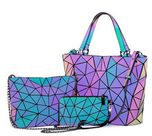Load image into Gallery viewer, handbags 3 pcs bag set Geometric