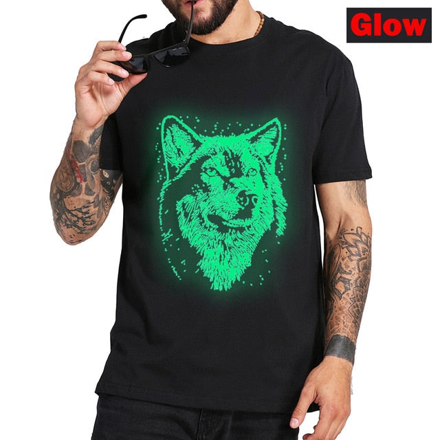 Glowing Wolf  3D T-Shirt