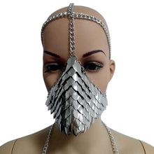 Load image into Gallery viewer, Metal Head Chain Mask