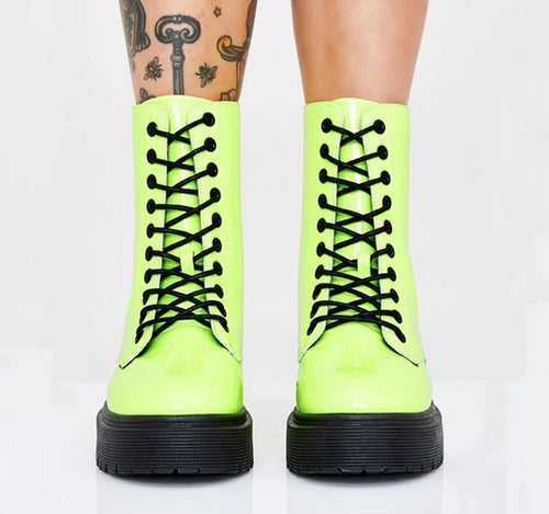 ankle boots lace up - Rave Alien