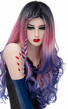 Load image into Gallery viewer, Wig Long Braids Rainbow Ombre Wavy - Rave Alien