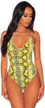Load image into Gallery viewer, Snake Print Sleeveless Bodysuit - Rave Alien