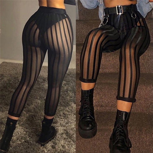 Mesh Striped Leggings