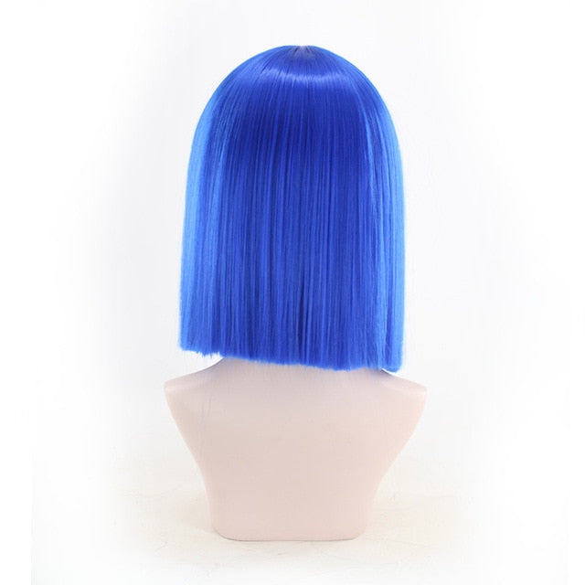 Wig Bob Synthetic Blue Short Wigs - Rave Alien