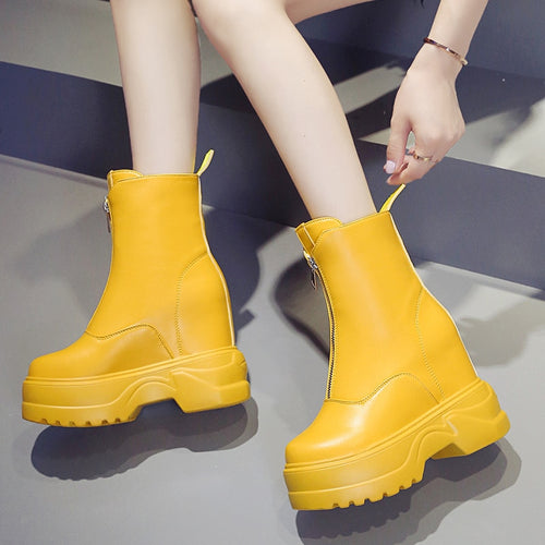Platform Boot Comfortable Wedges - Rave Alien