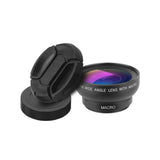Universal Clip Mobile Camera  2 in 1 37mm 0.45X Super Wide Angle 12.5X Macro Lens