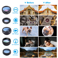 trending hot online universal portable clip on travel camera 10in1 filter lens kit for cell phone