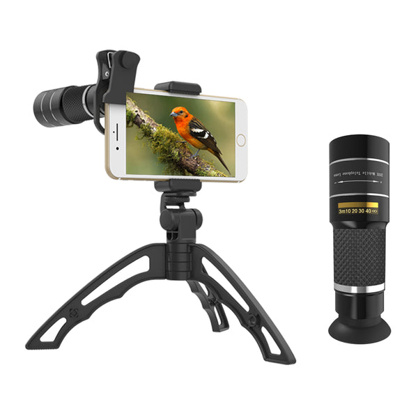 APEXEL 20X Telephoto Zoom Lens portable 20x monocular telescope lentes with selfie tripod for iPhone Samsung Smartphones