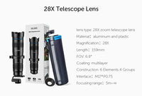 28x Telescope Lens with Tripod