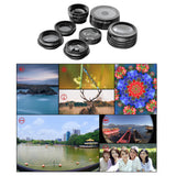 Apexel 198 Fisheye 0.36x Wide Angle Telescope CPL Kaleidoscope Mobile Camera Cover 7-in-1 Lens