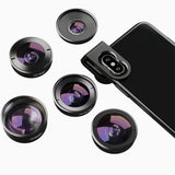 Phone Camera Lens Kits APEXEL 5 in 1 Lens Kit