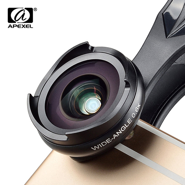 Universal Clip on HD 0.6X Wide Angel Macro 2in1 Lens Kit