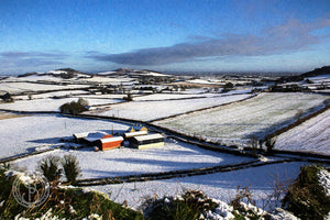 Rock of Dunamaise. View from.  with snow