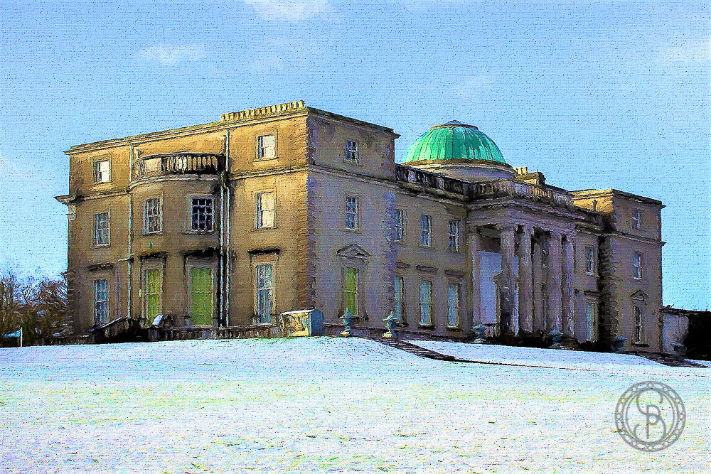 Emo Court, in the snow