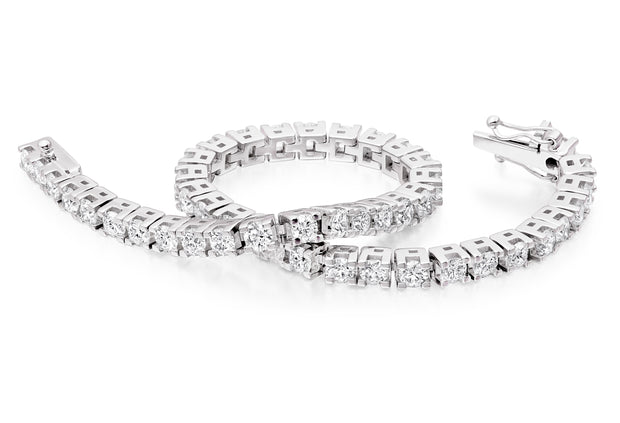 Flexi-Link Diamond Box Bracelet